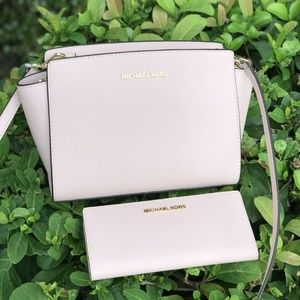 Michael Kors Selma MD Crossbody Bag+Wallet Lrth